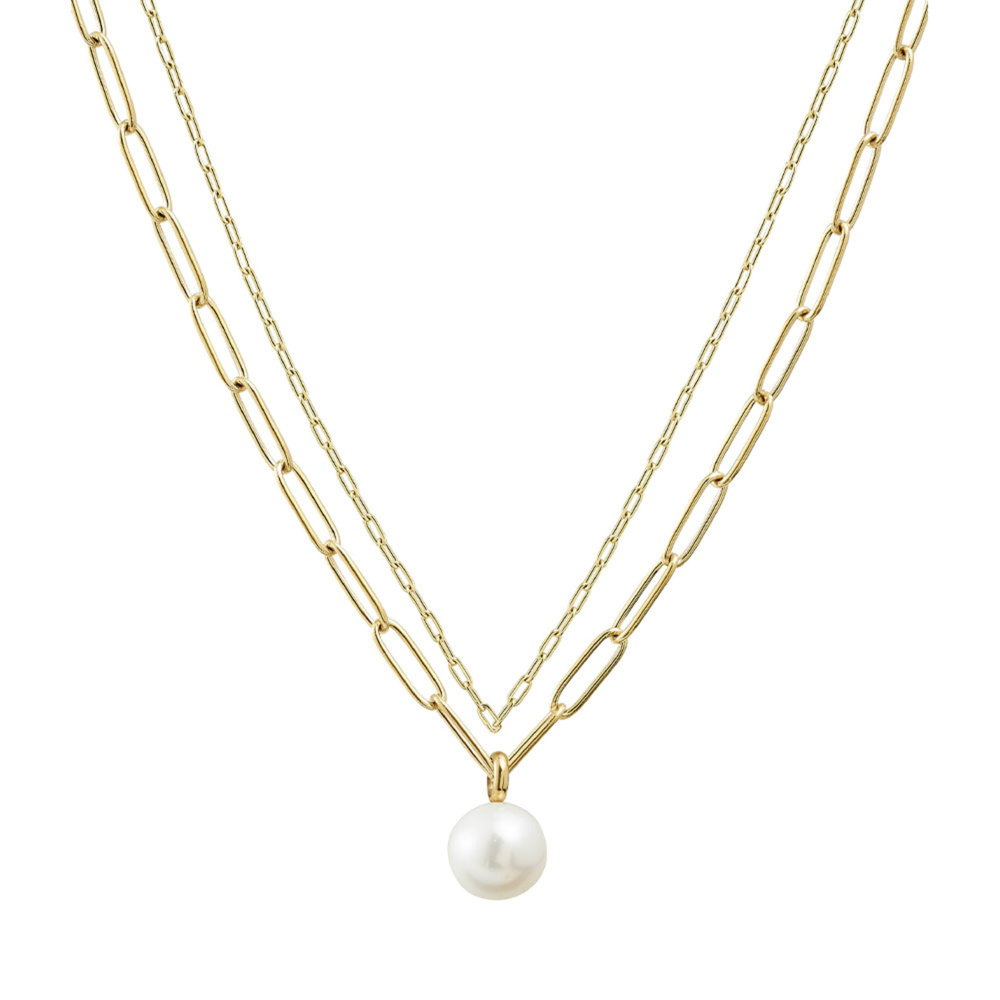 Berzelii Necklace Layered Gold Necklace, ONE SIZE