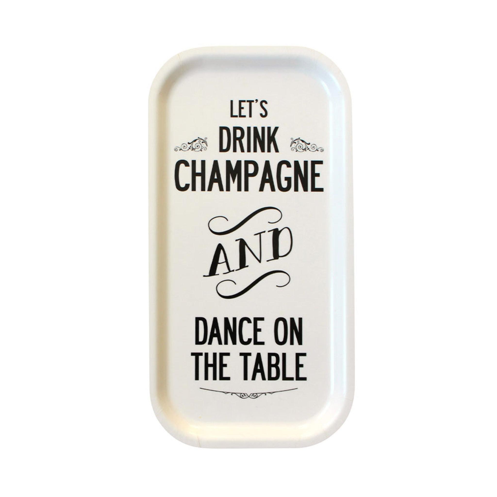 Bricka Champagne 43×22 cm