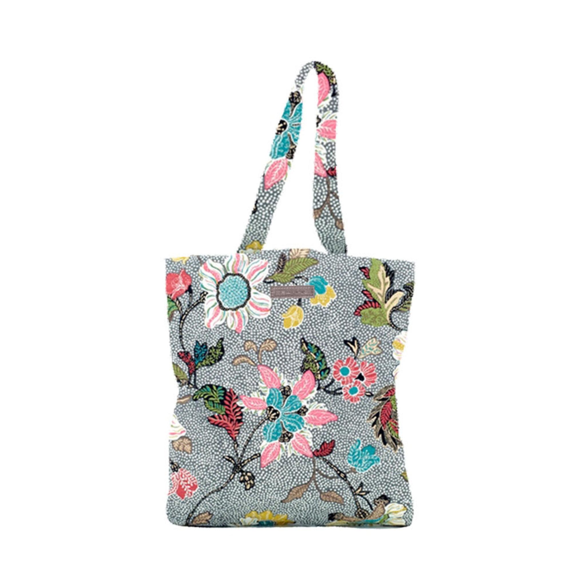 Flower Linen Shopper, ONE SIZE