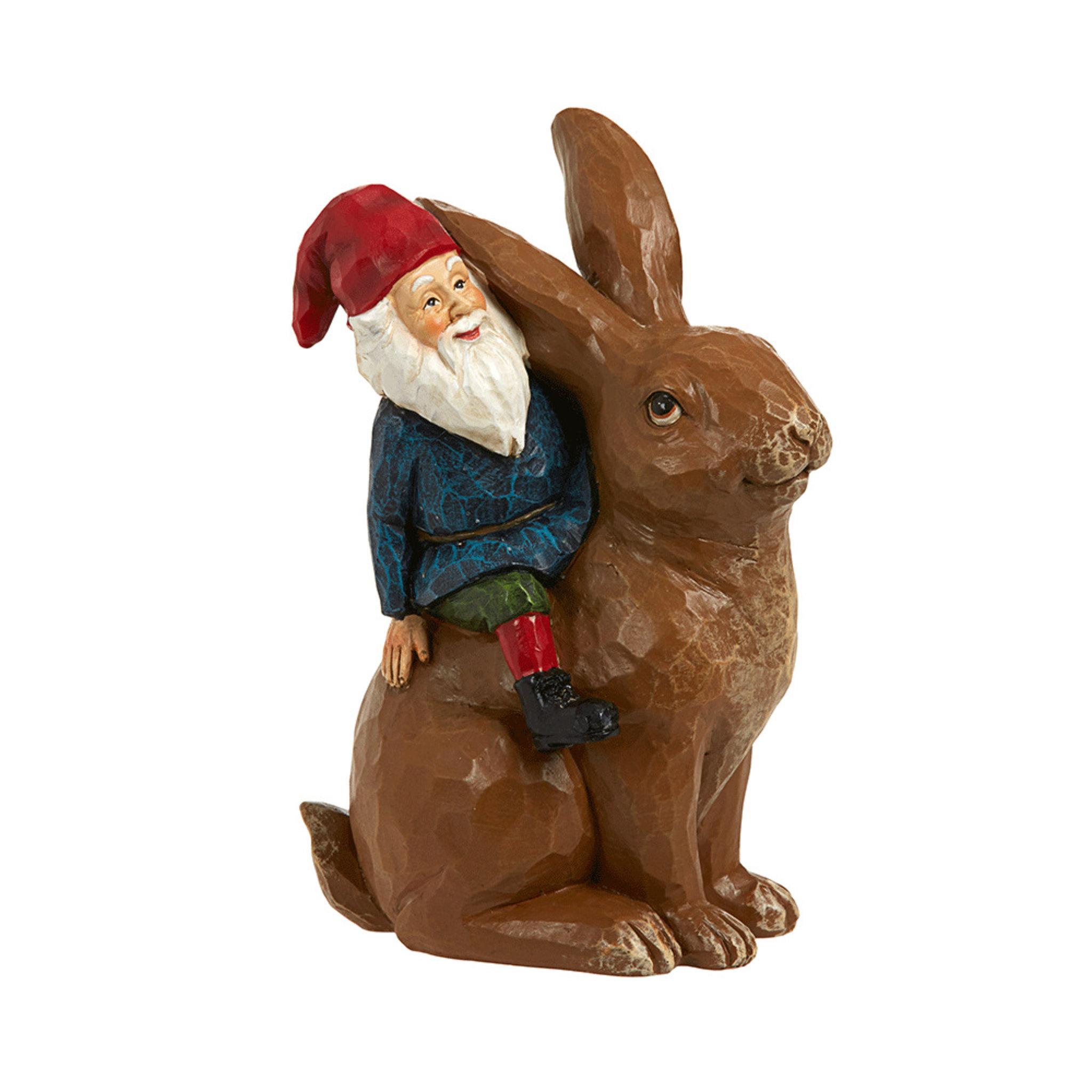 Juldekoration tomte & kanin 16 cm