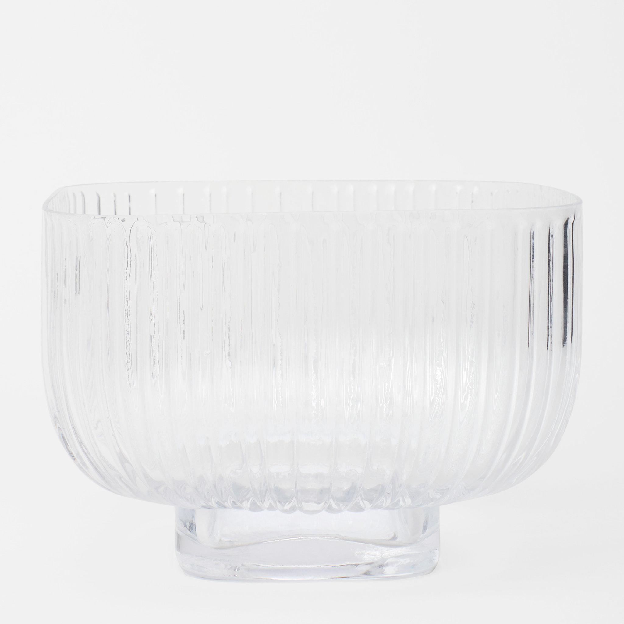 Glasskål Fyrkantig