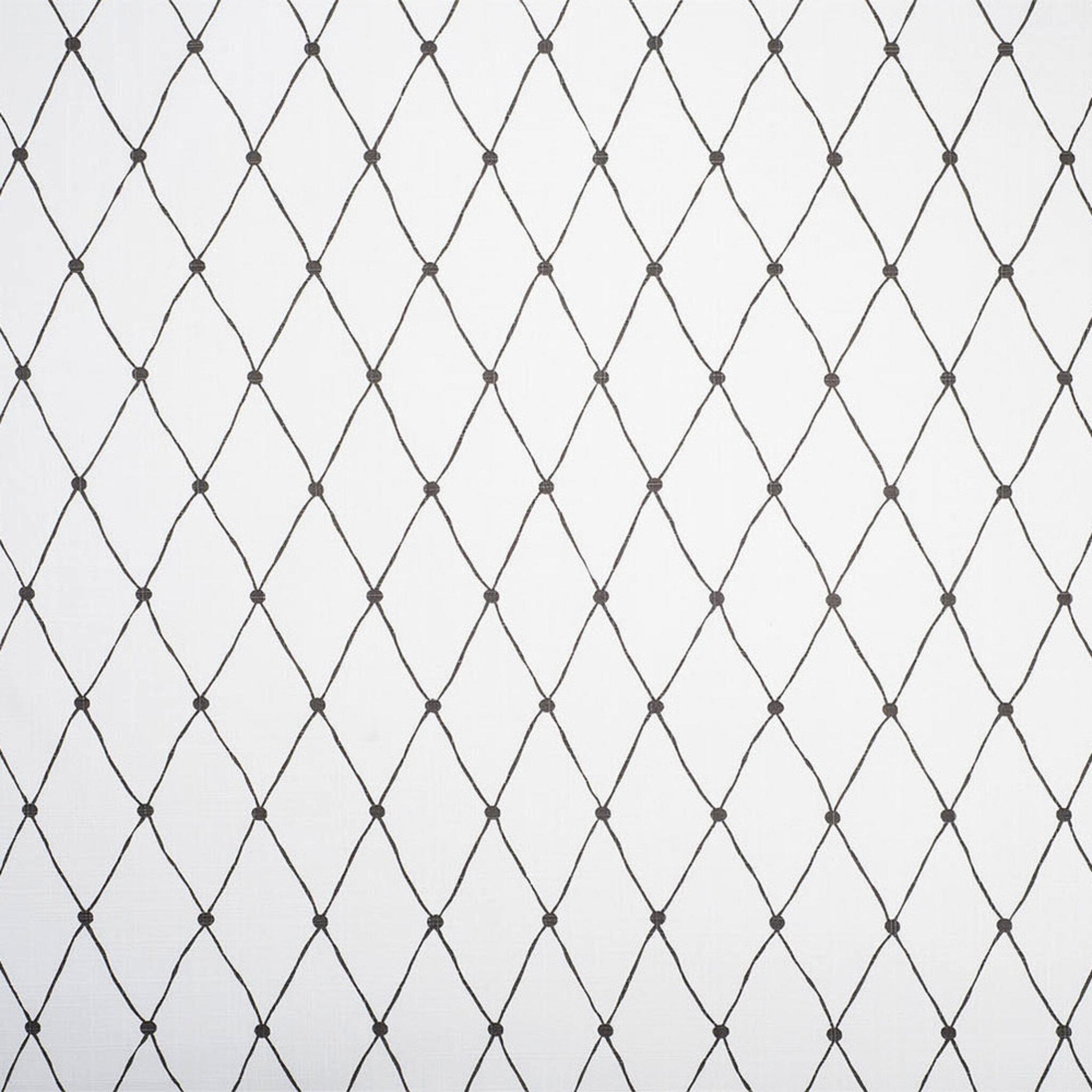 Tyg på löpmeter - Net, vit/svart