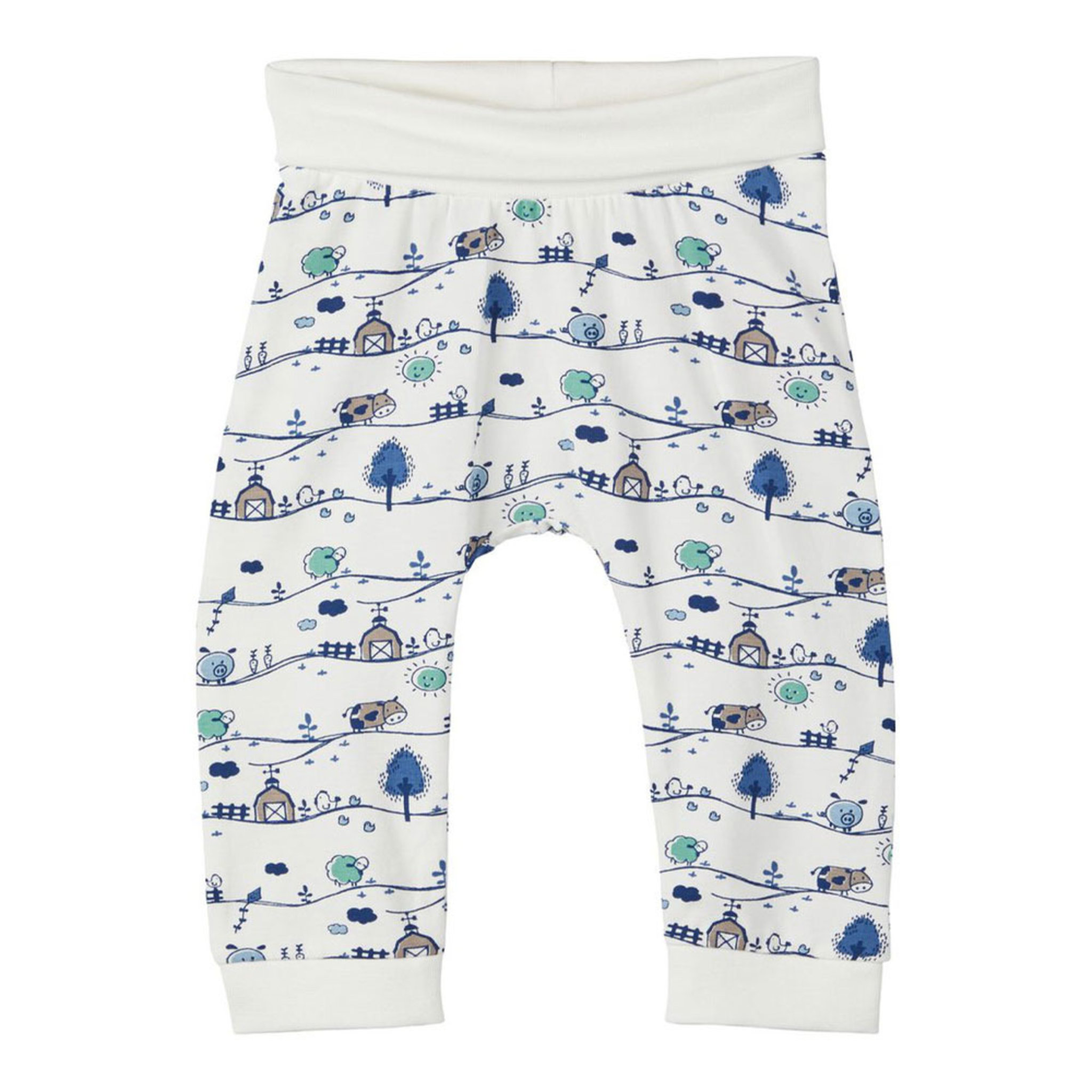 Printed-cotton Trousers