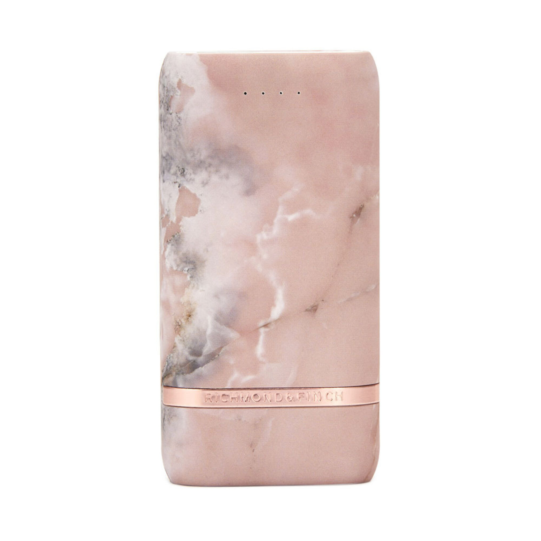 Compact Powerbank, Pink Marble, ONE SIZE