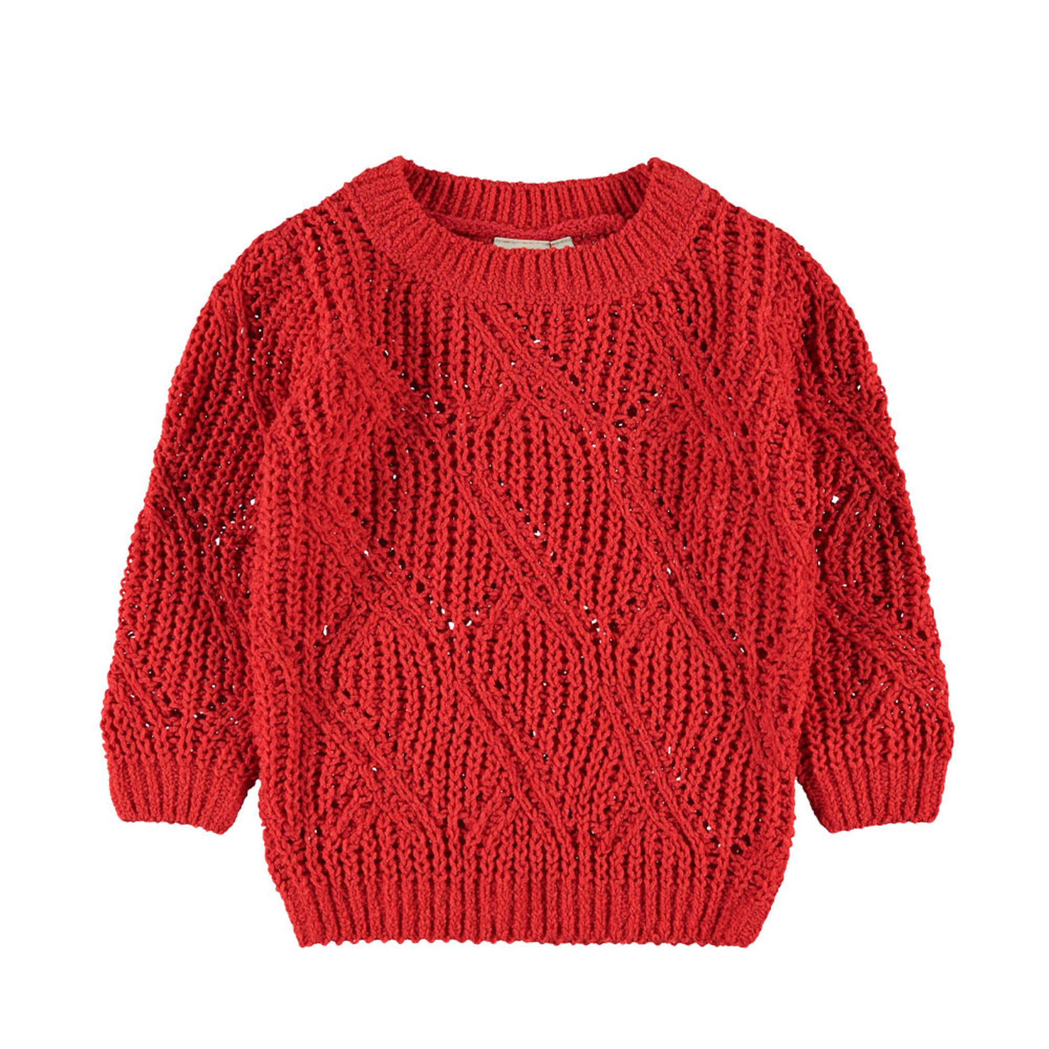 Långärmad mönsterstickad tröja