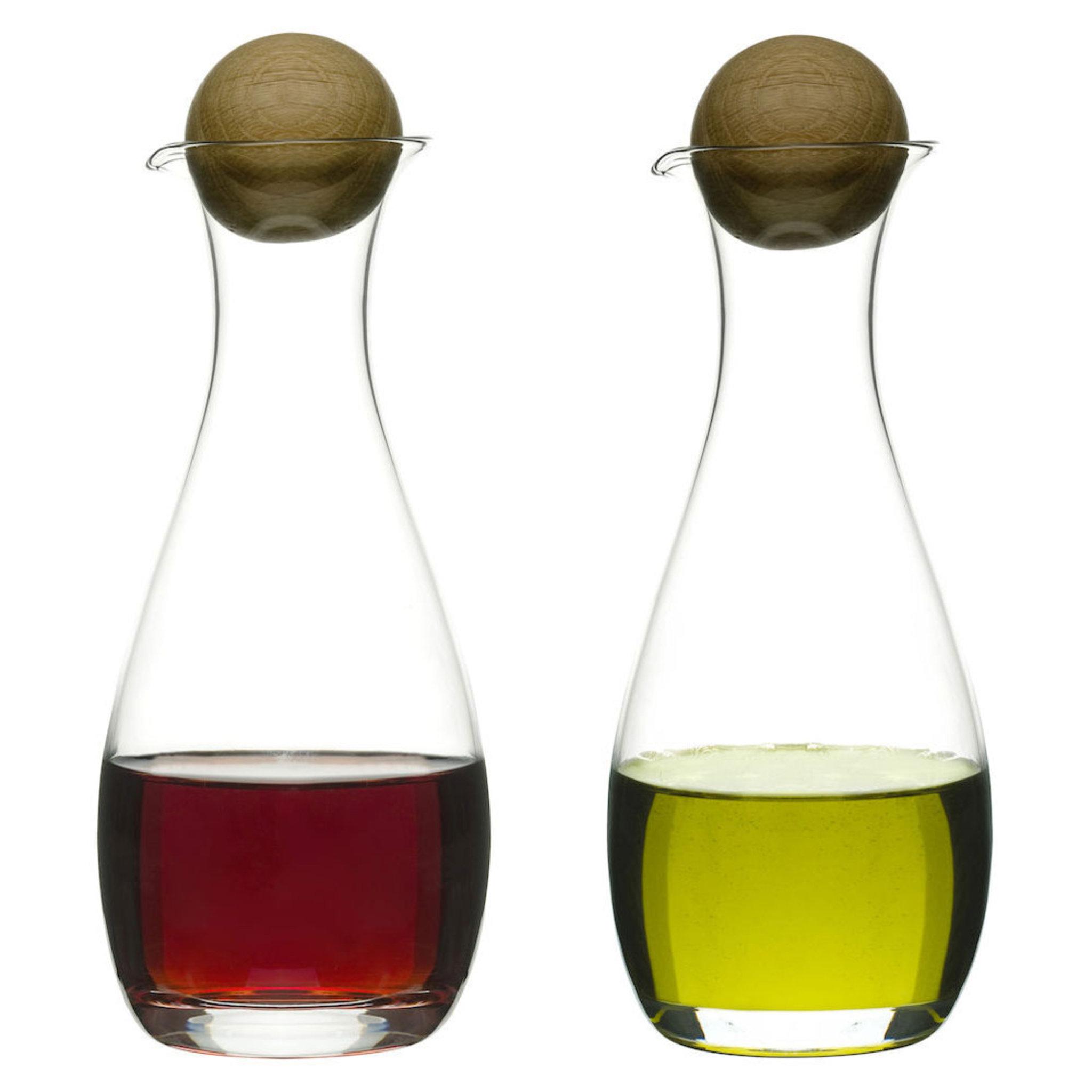 Oval oak Olja/vinägerflaska 30 cl 2-p