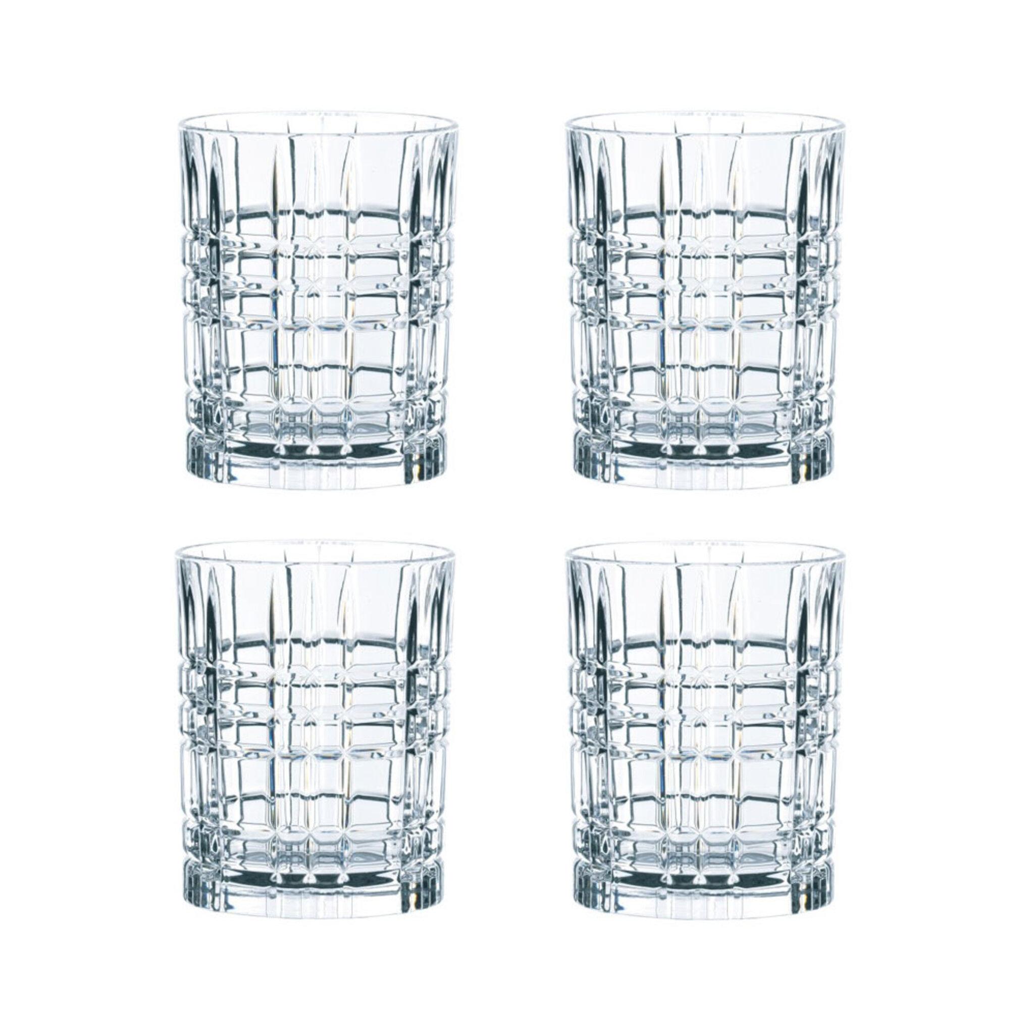 Whiskeyglas Square 345 cl 4-pack