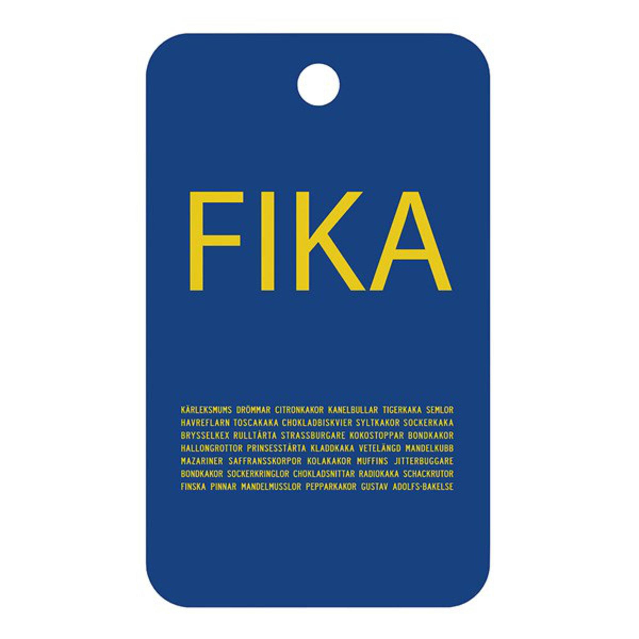 Skärbräda – FIKA – 20×34 cm
