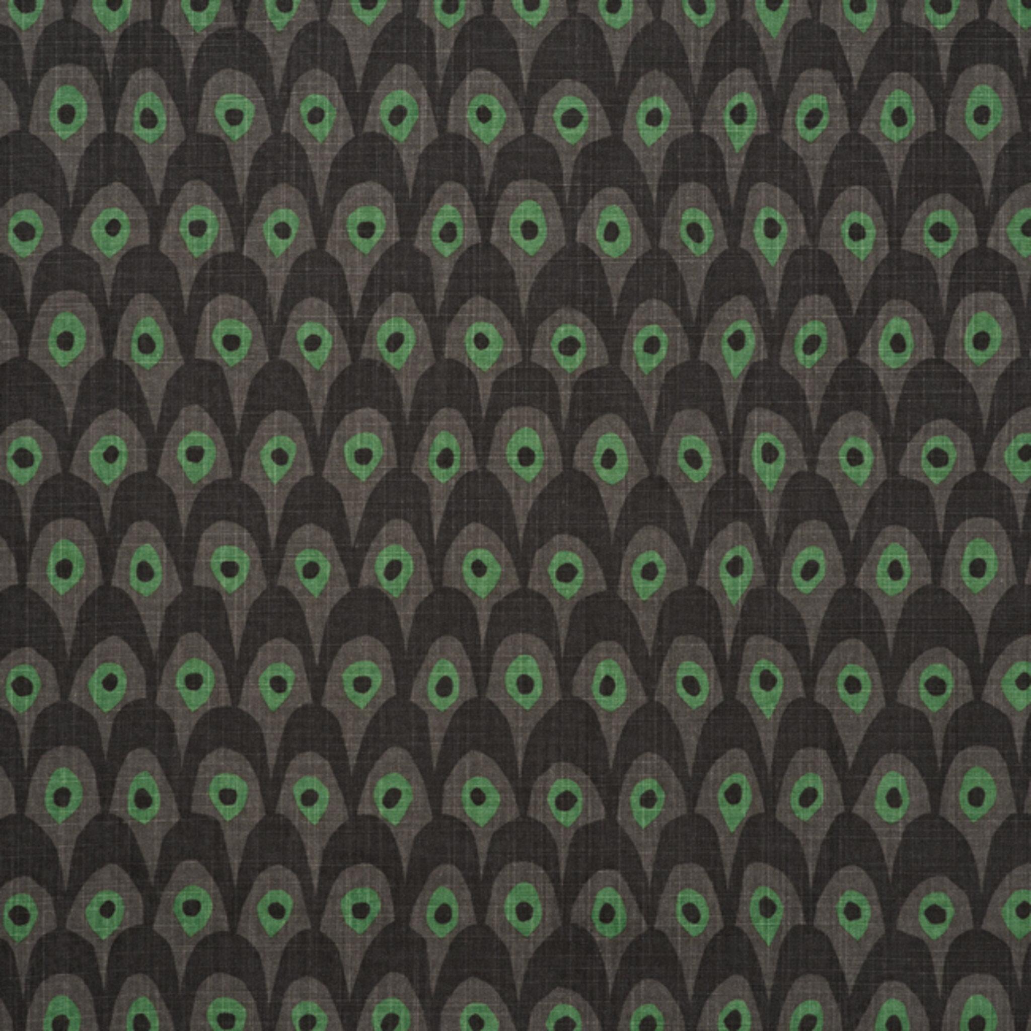 Tyg på löpmeter – Circus grå/grön