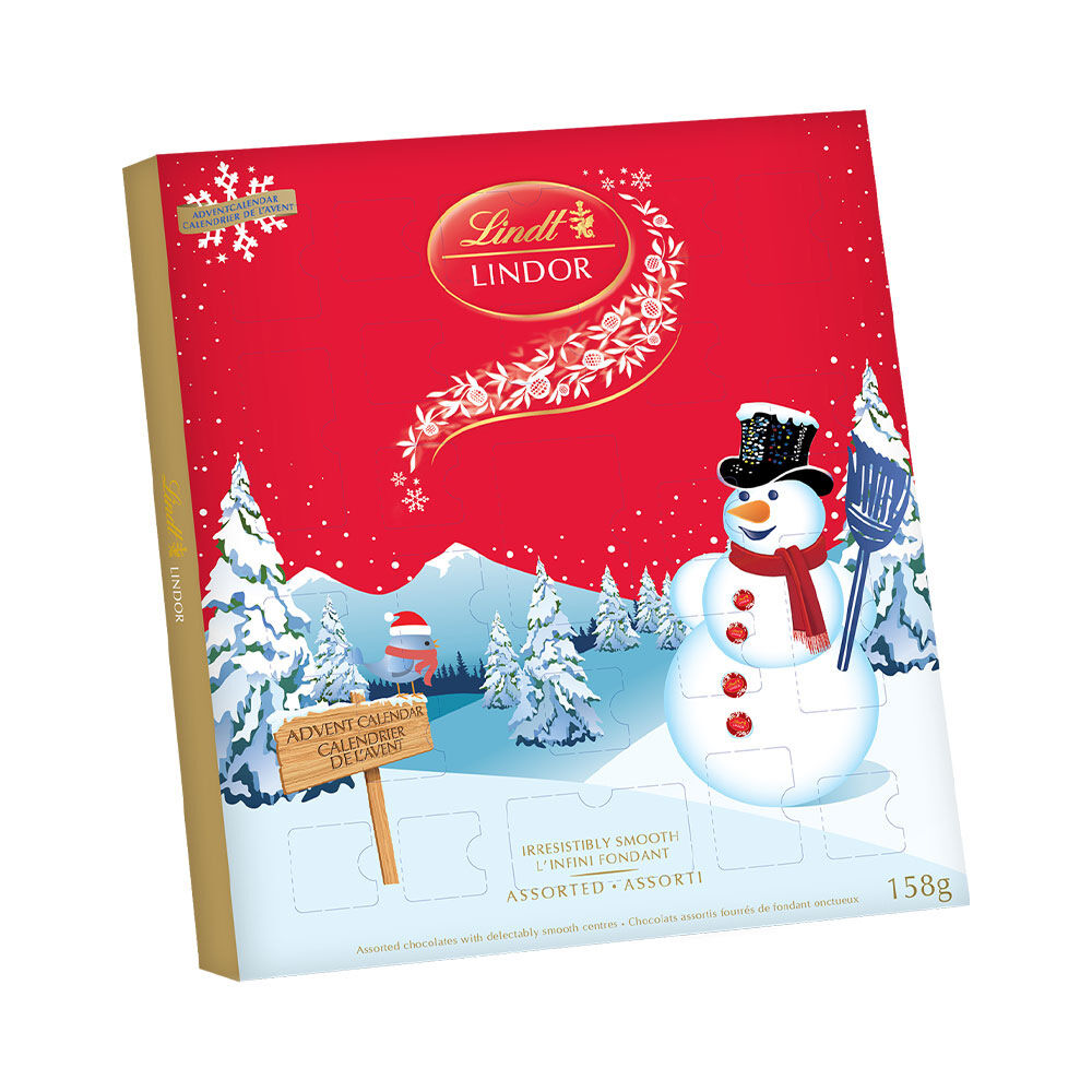 Advent Calendars Lindor Snowman Calendar 158g