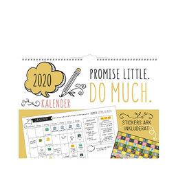 Väggkalender 2020 Doodle vägg