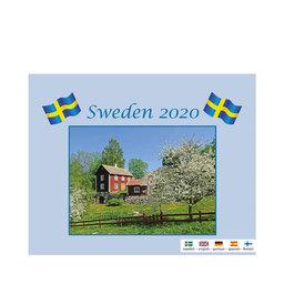 Väggkalender 2020 Sweden Med Kuvert
