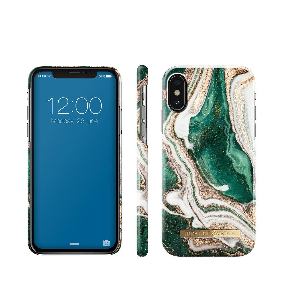 Mobilskal IPHONE X/XS GOLDEN JADE MARBLE