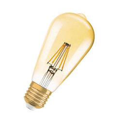 LED-lampa Edison 51 E27 Dim Filament Gold
