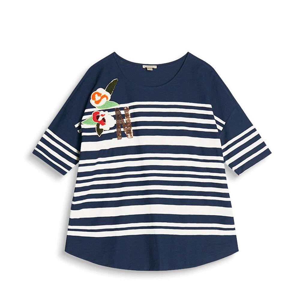 T shirt Letter Stripe