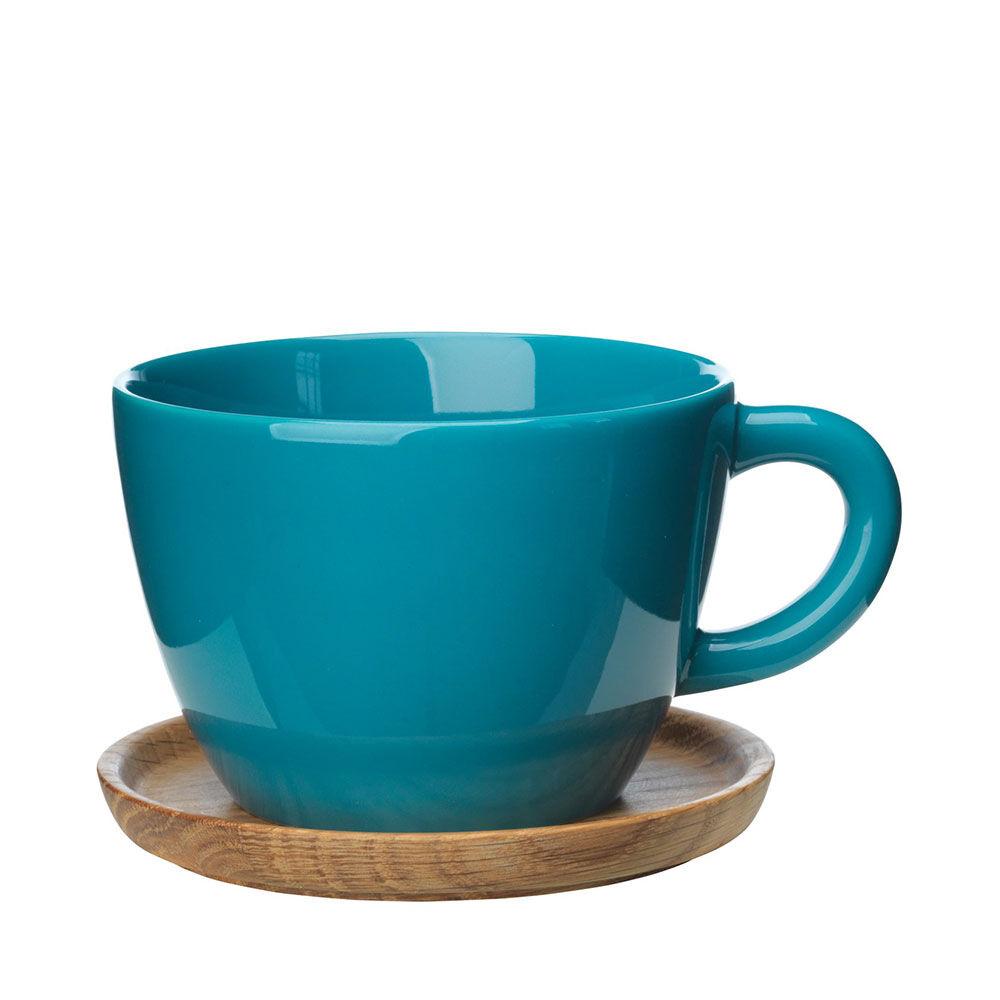 Temugg med träfat Höganäs Keramik 50 cl