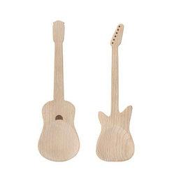 Beech Wood + Rockin Guitar Salad Servers