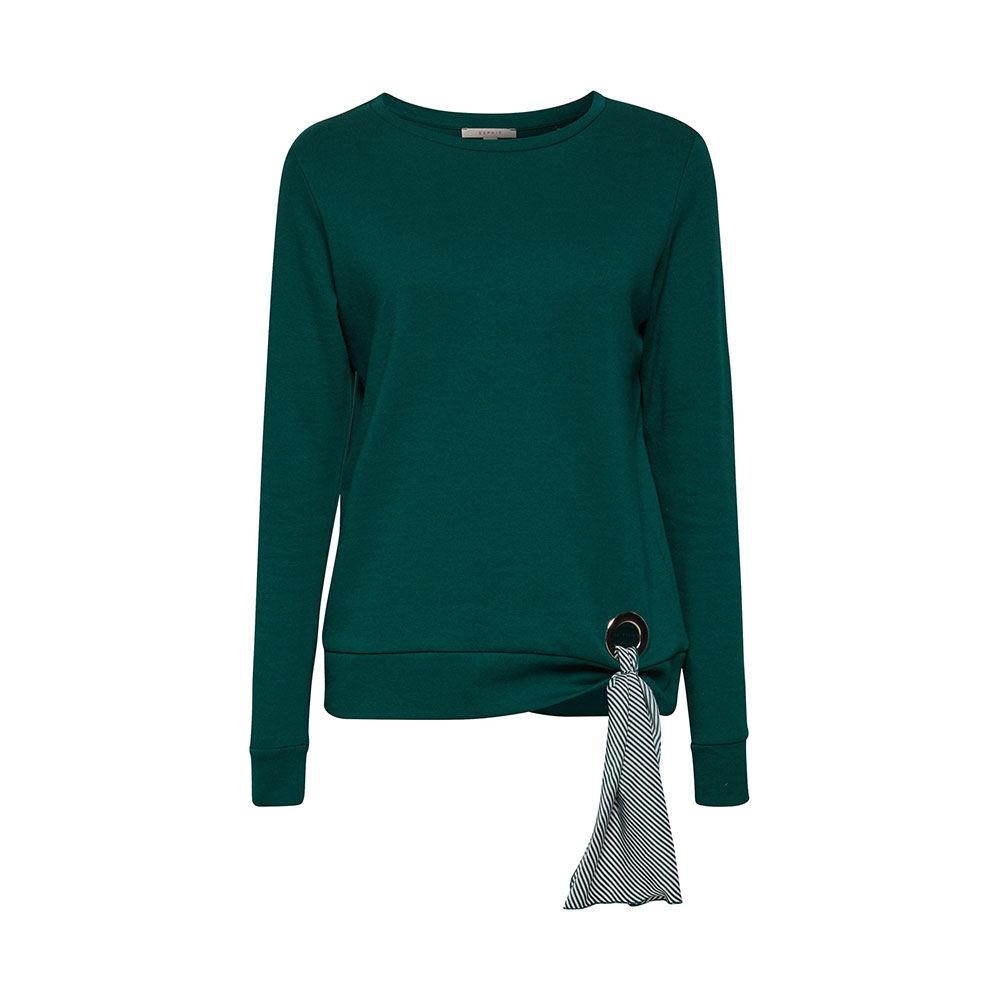 Sweatshirt med öljett och dekorband
