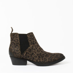 Boot, Whole Green Leopard