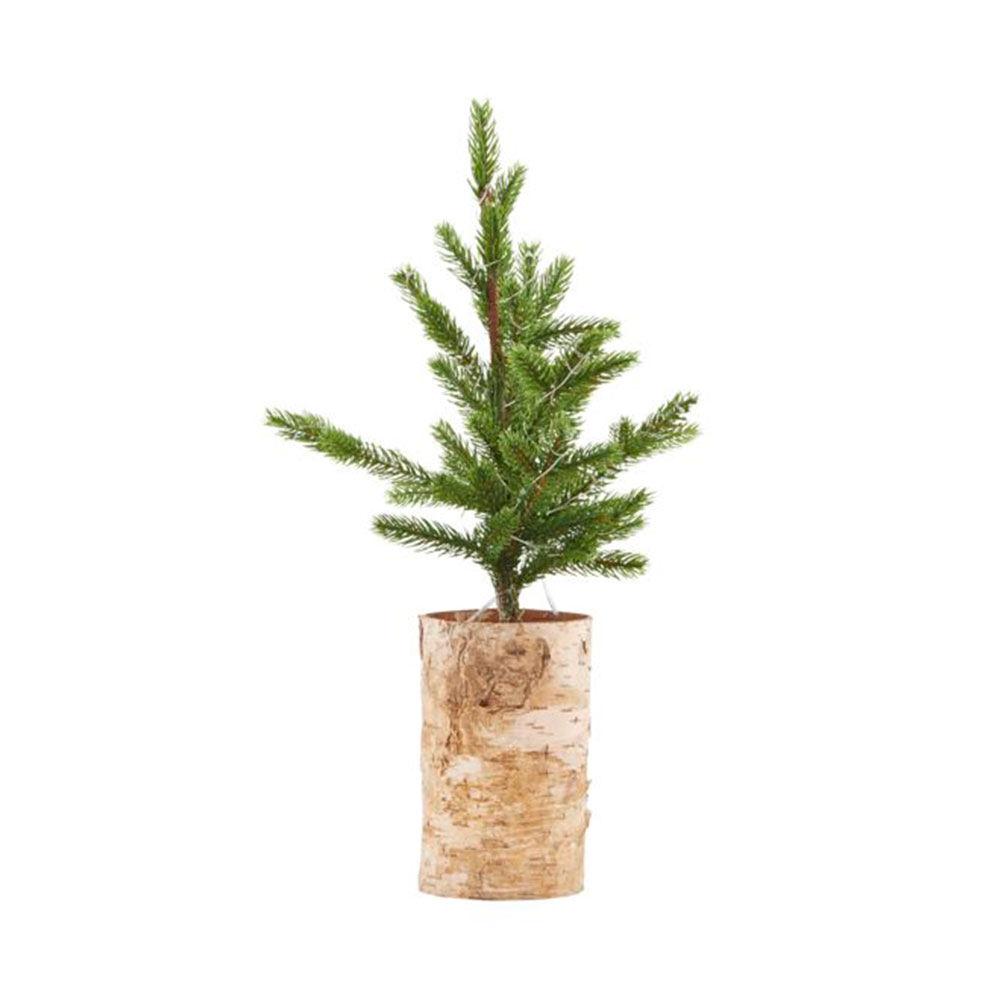 Julgran med ljus träbotten 44 cm