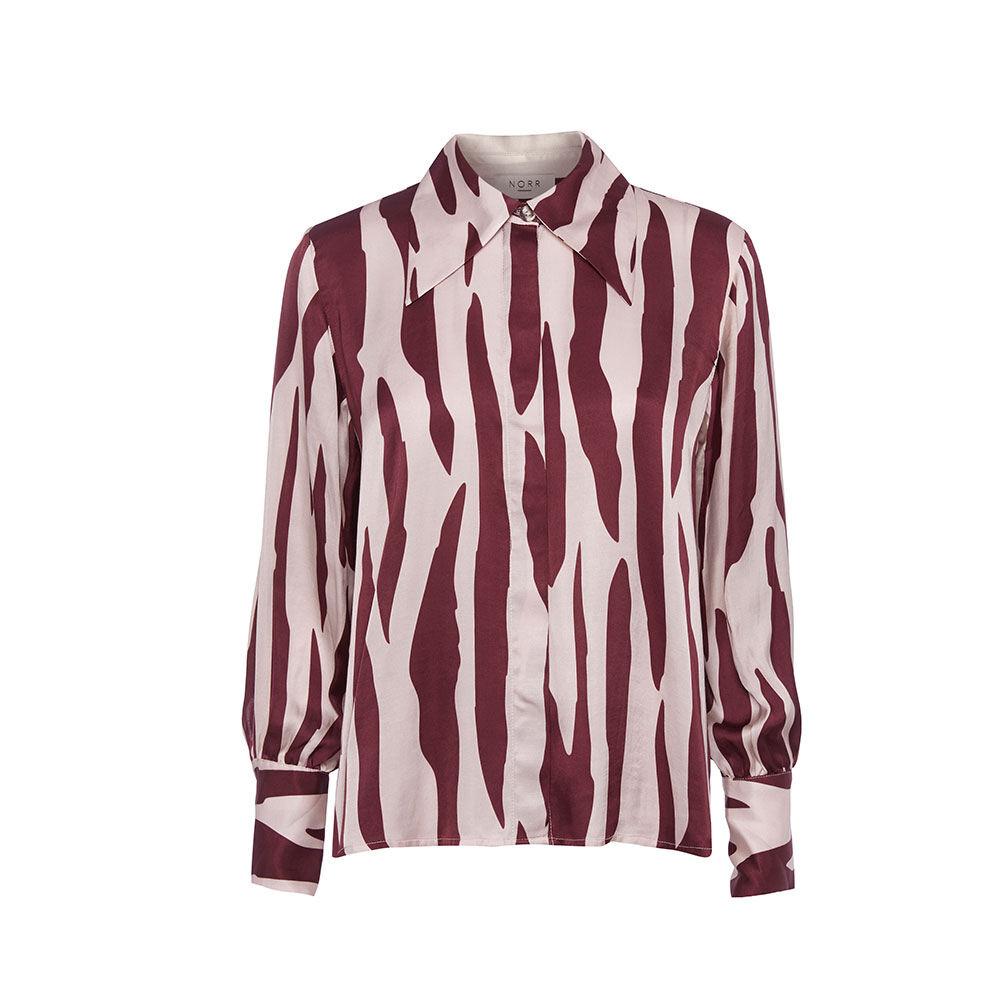 Shirt plum printed