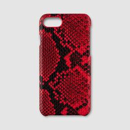 Mobilskal iPhone 7/8 – Röd ormskinnsimitation