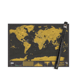 Poster Scratch Map Deluxe XL 119×84 cm