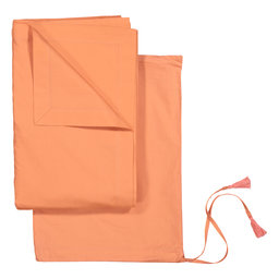 Flat Bed Sheet Solid Colour 160×260 cm Coral