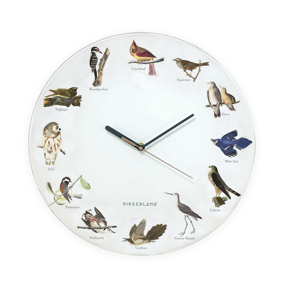 Väggklocka med fågelsång Bird Call