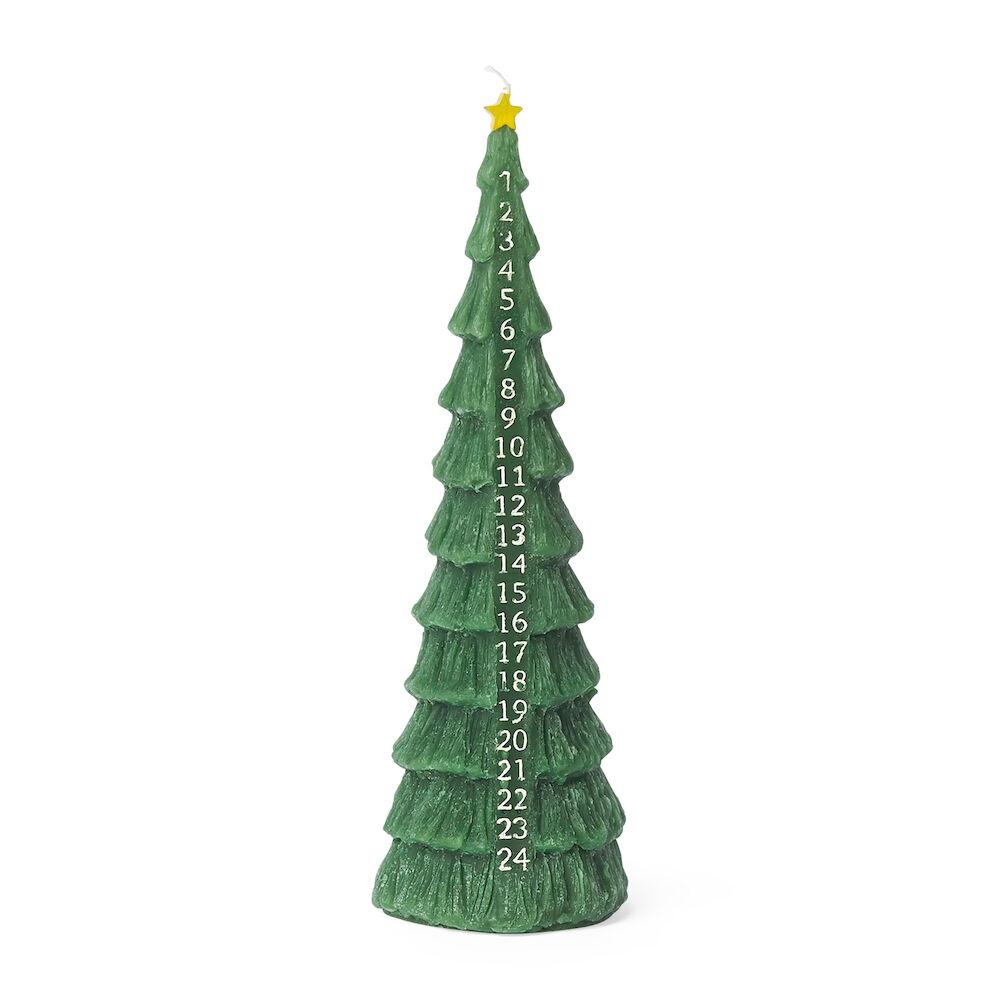 Kalenderljus julgran 9 x 28 cm