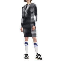 Stripe Mix Bodycon Dress
