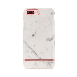 Mobilskal iPhone 6/6S/7/8 PLUS White Marble rose gold details