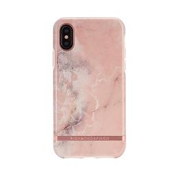 Mobilskal iPhone X Pink Marble rose gold details