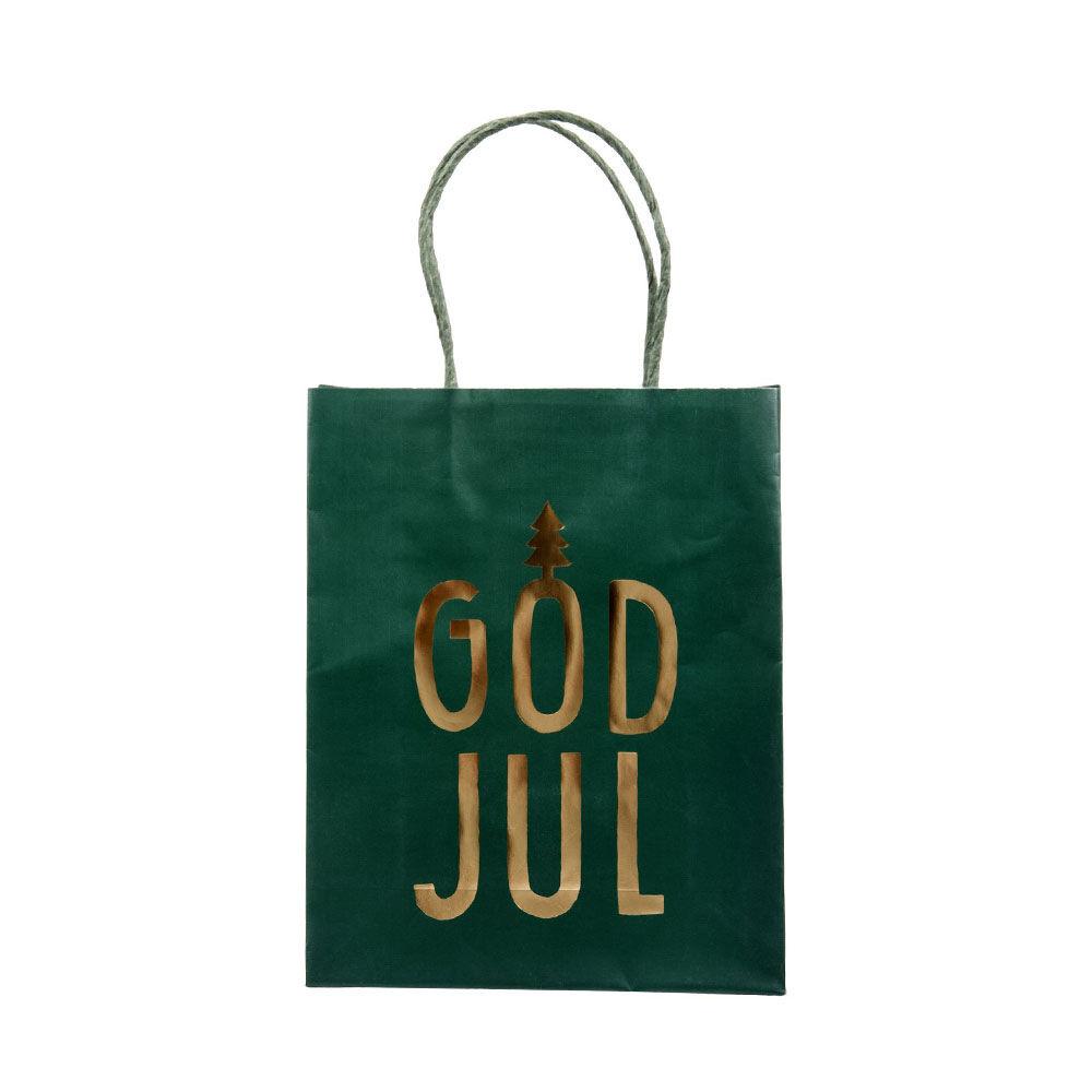 Presentpåse God Jul 19×24 cm