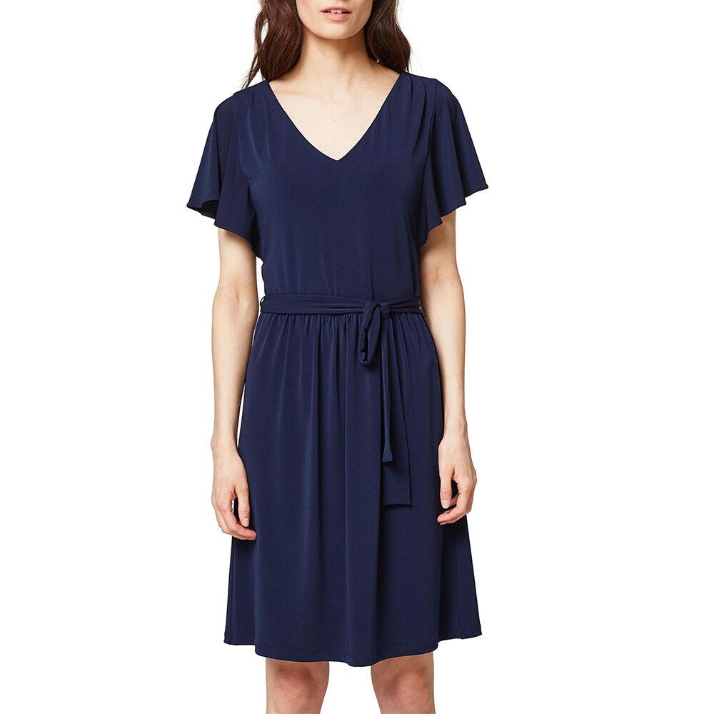 Jerseyklänning med volangärm