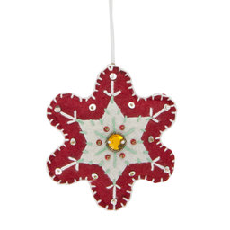 Ornament Broderad blomma 12 cm