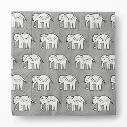 Servetter 30 st, Elefant