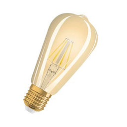 LED-lampa Edison 34 E27 Filament Gold