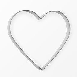 Pepparkasform hjärta 20 cm