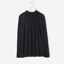 Tops Smock Neck Blouse