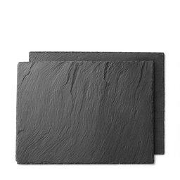 Underlägg skiffersten, 2 pack, 30x40 cm