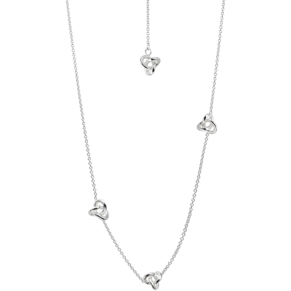 Halsband Silver, Le Knot medium necklace long