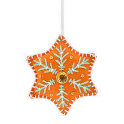 Ornament Broderad Stjärna 11 cm