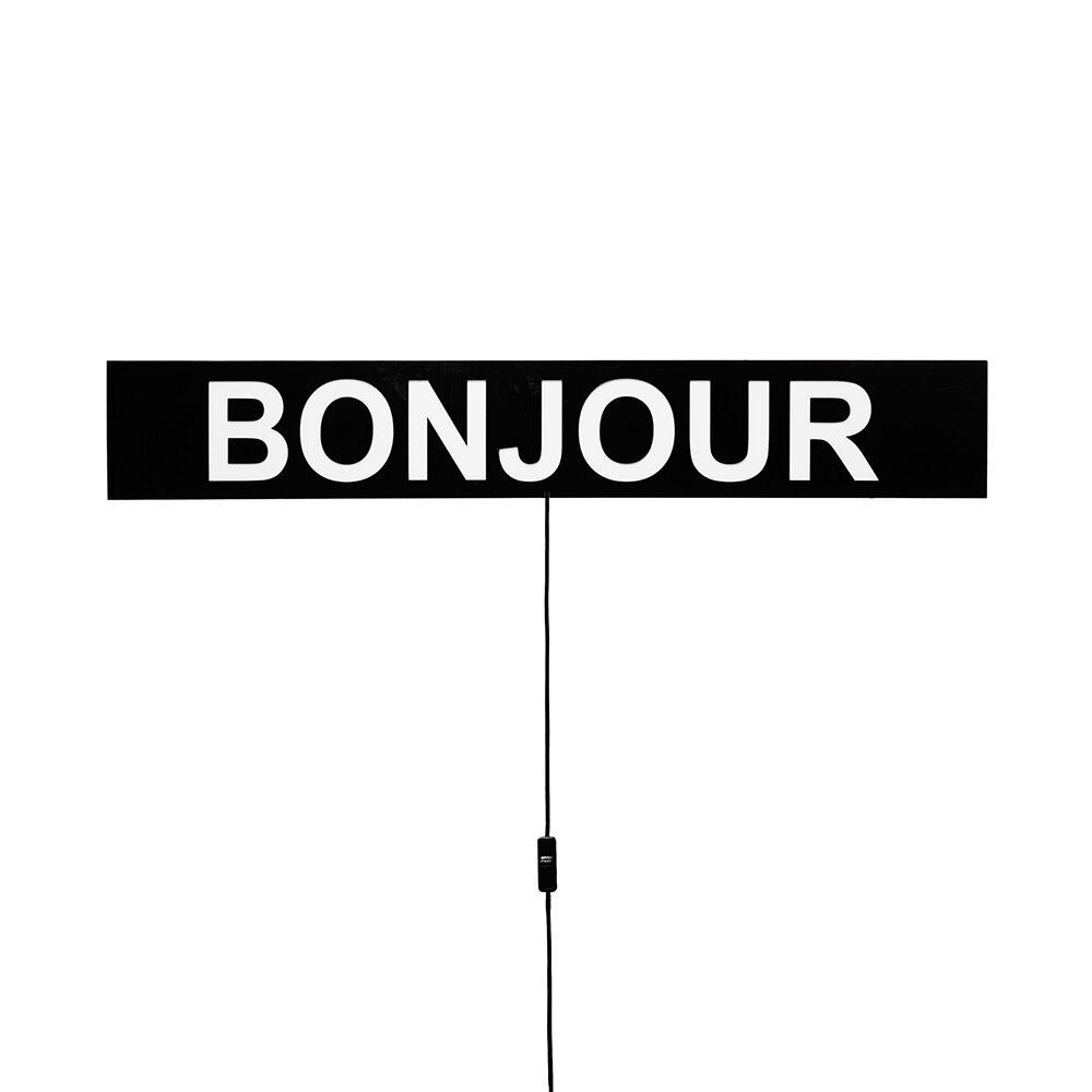 Lightbox Bonjour 9x16x105 cm