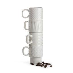 Coffee & More Espressomugg 10 cl 4-pack vit