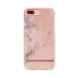 Mobilskal iPhone 6/6S/7/8 PLUS Pink Marble rose gold details
