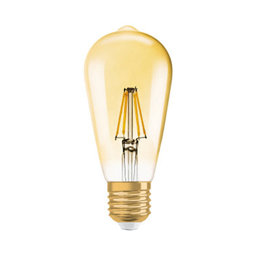 LED-lampa Edison 21 E27 Filament Gold