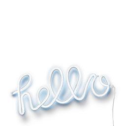 Vägglampa Neon Hello