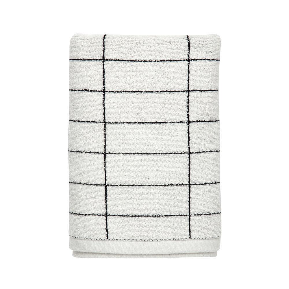Handduk Tile 38×60 cm svart/vit