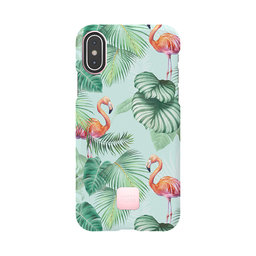 Mobilskal iPhone X/XS pink flamingos
